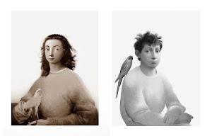 Boy with bird  Girl with bird