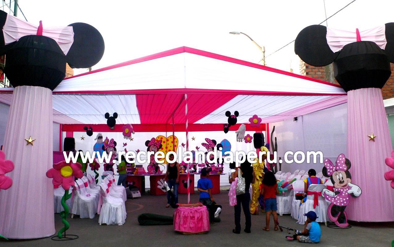 Decoracion Minnie Rosada ~ Shows Infantiles Recreolandia Decoraci?n de Minnie Rosada