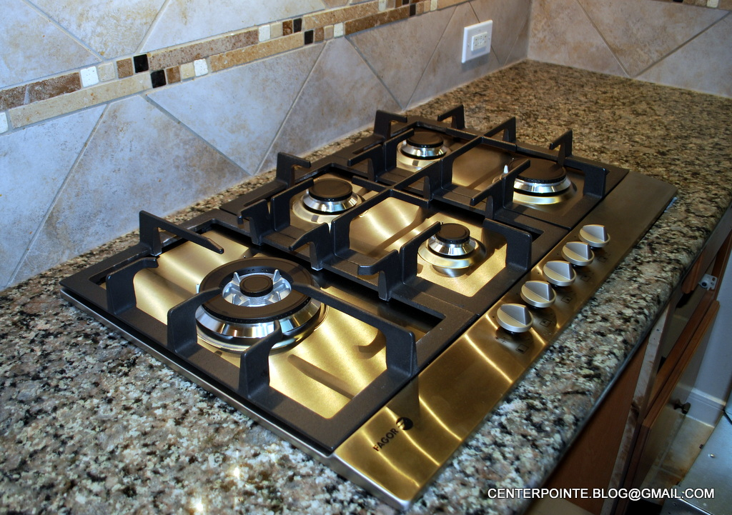 stock picture and gas photo cooktop countertop on granite stainless stove