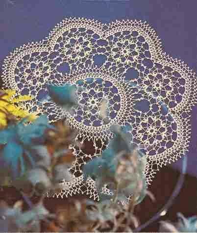 """Centro de Mesa """"Filigrana"""" a Crochet"""