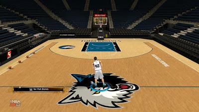 NBA 2K13 Minnesota Timberwolves Default Floor (2K Sports)