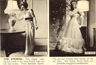 image of 1940s austerity fashion