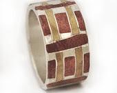 mokume gane ring, dafna dagan, silver jewelry