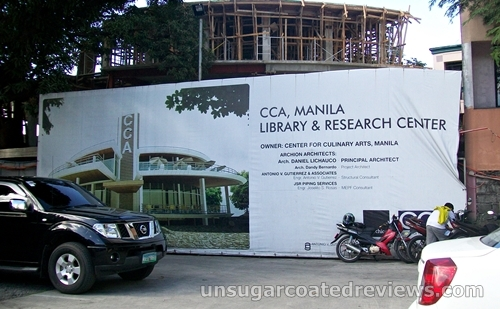 Library and Research Center under construction at CCA Manila
