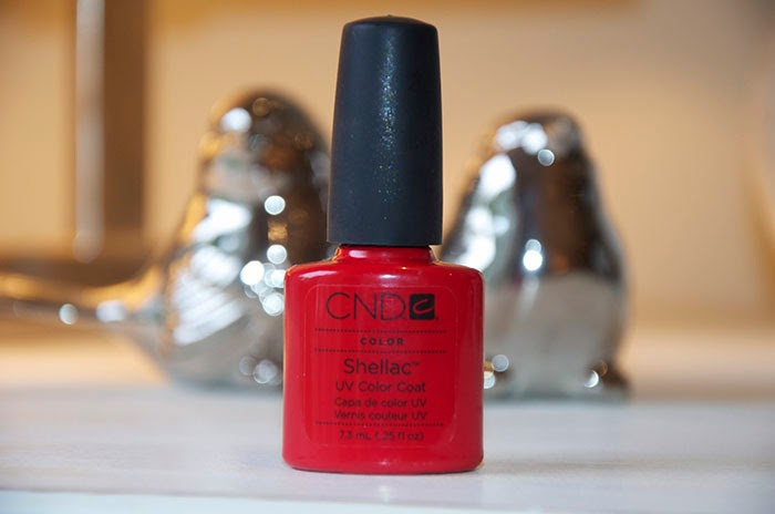 Shellac Wildfire Red Gel Manicure Review