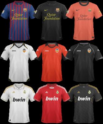 La Liga Kits | FM 2012