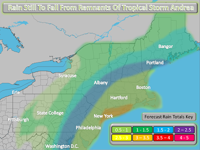 Northeast Weather Action: Rain Still To Fall From Remnants Of Tropical