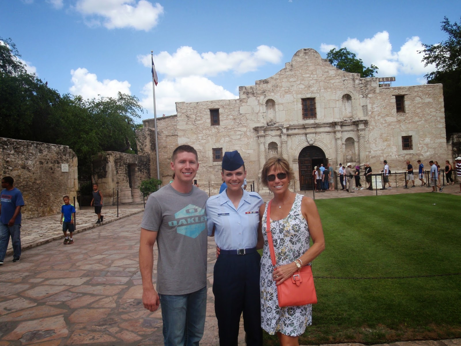 BMT Graduation, Town Pass in San Antonio, The Alamo in San Antonio