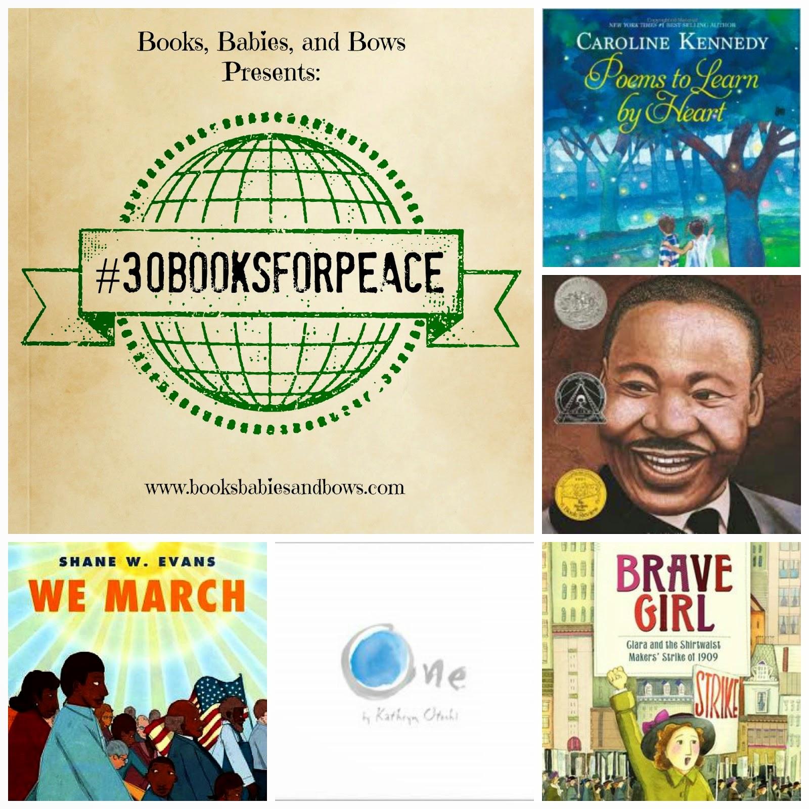 http://www.booksbabiesandbows.com/2014/08/30booksforpeace-part-1.html