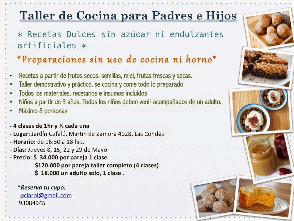 Taller de cocina saludable padres e hijos