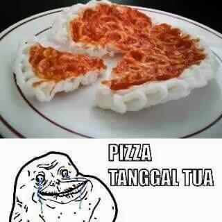 Pizza Waktu Sedang Tanggal Tua