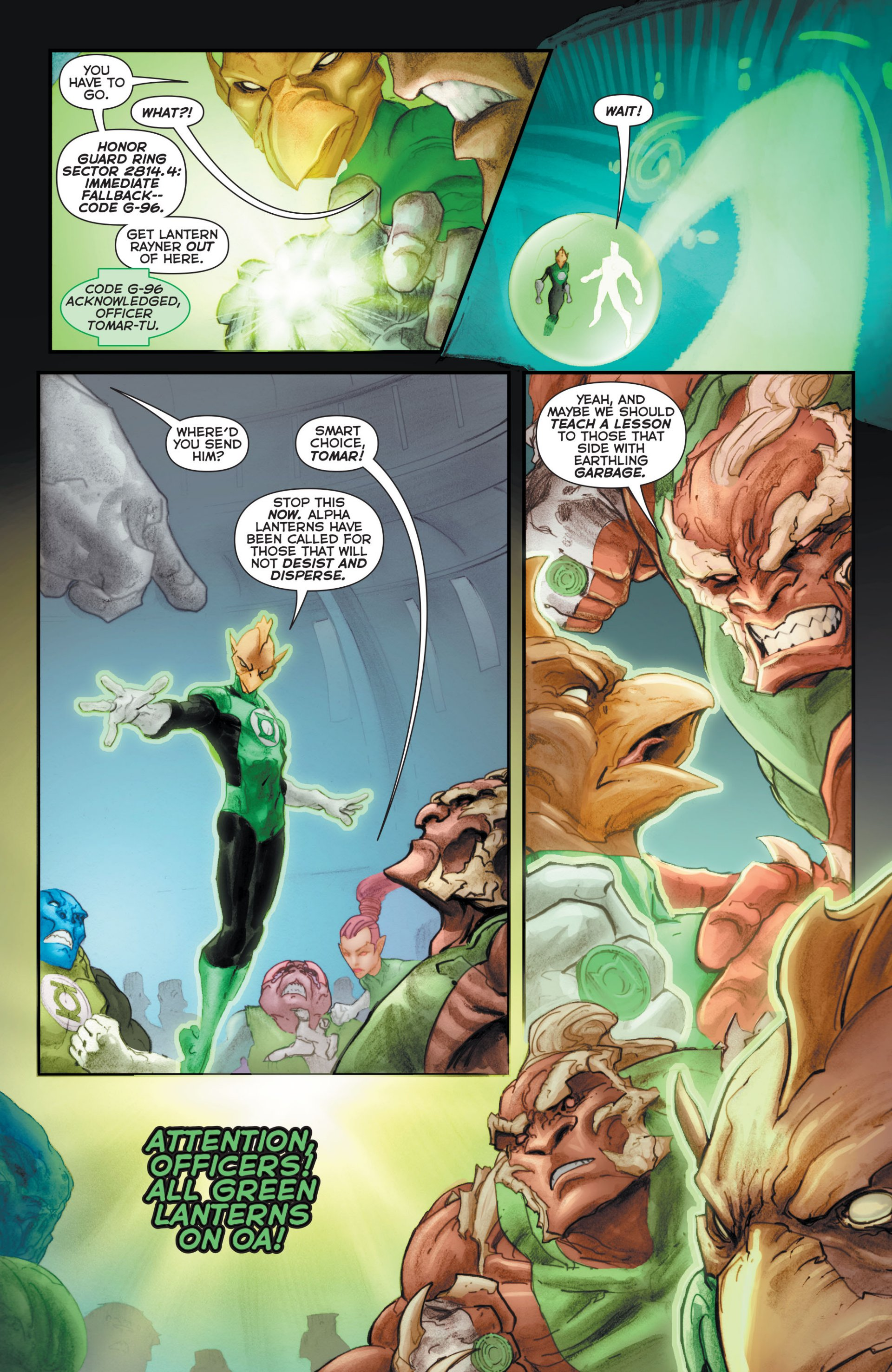 Read online Green Lantern Corps (2006) comic -  Issue #63 - 17