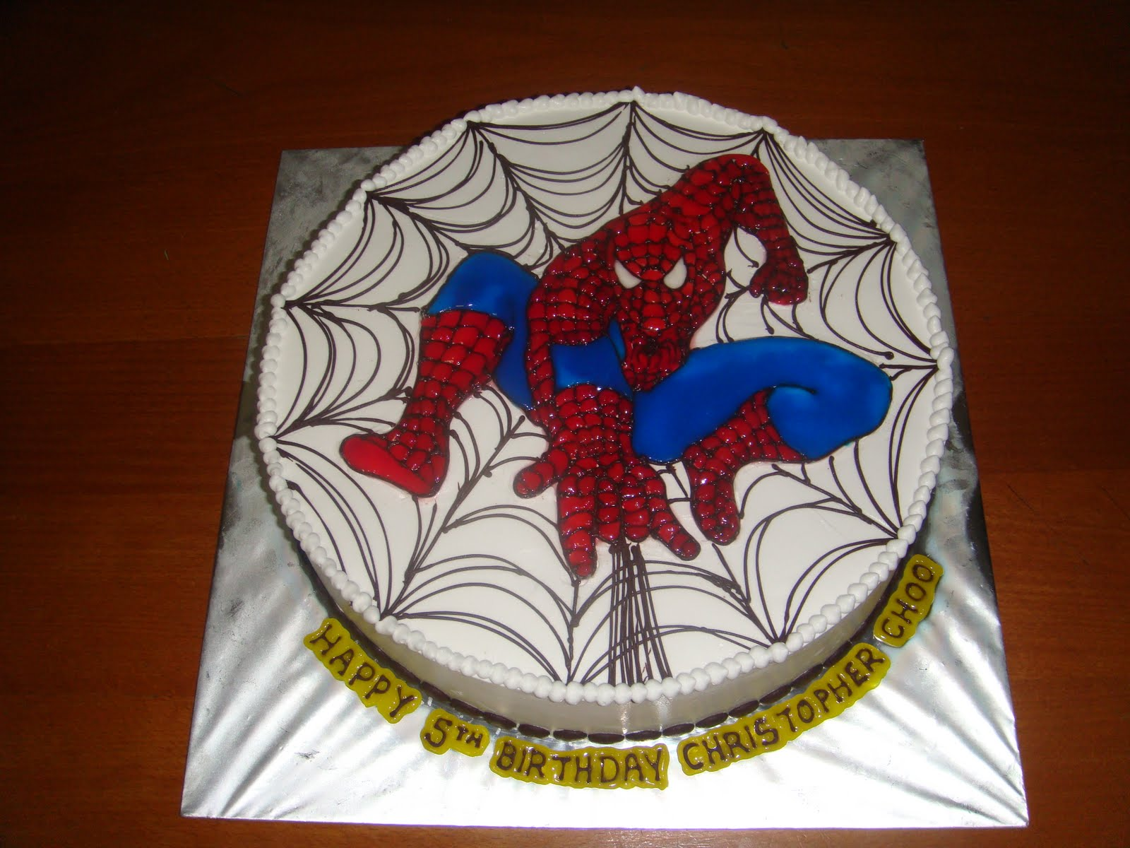 Birthday Cake Designs Spiderman : Yummy Baking: Spiderman Birthday Cake