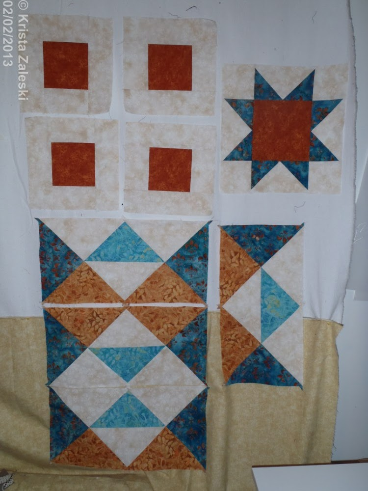 Krista Quilts Design Wall Monday Feb 4