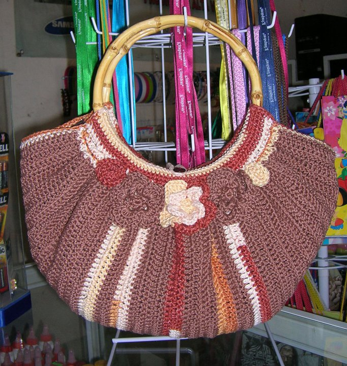 Mis labores en Crochet: Bolsa tejia crochet, fat bottom bag