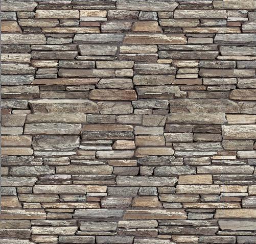 muro de piedra chata