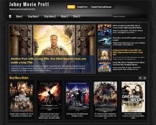 Johny Movie Prett Blogger Template