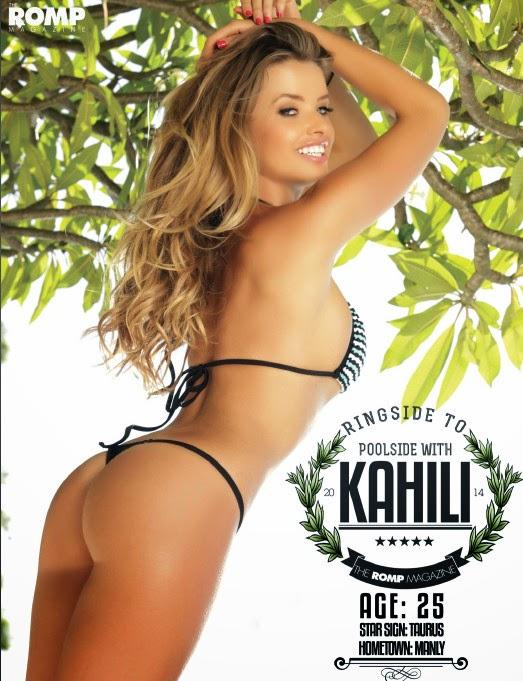 Australian beauty Kahili Blundel hot bikini pictures photo 1