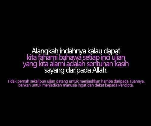 hikmah ujian Allah,syukur,redha,sabar