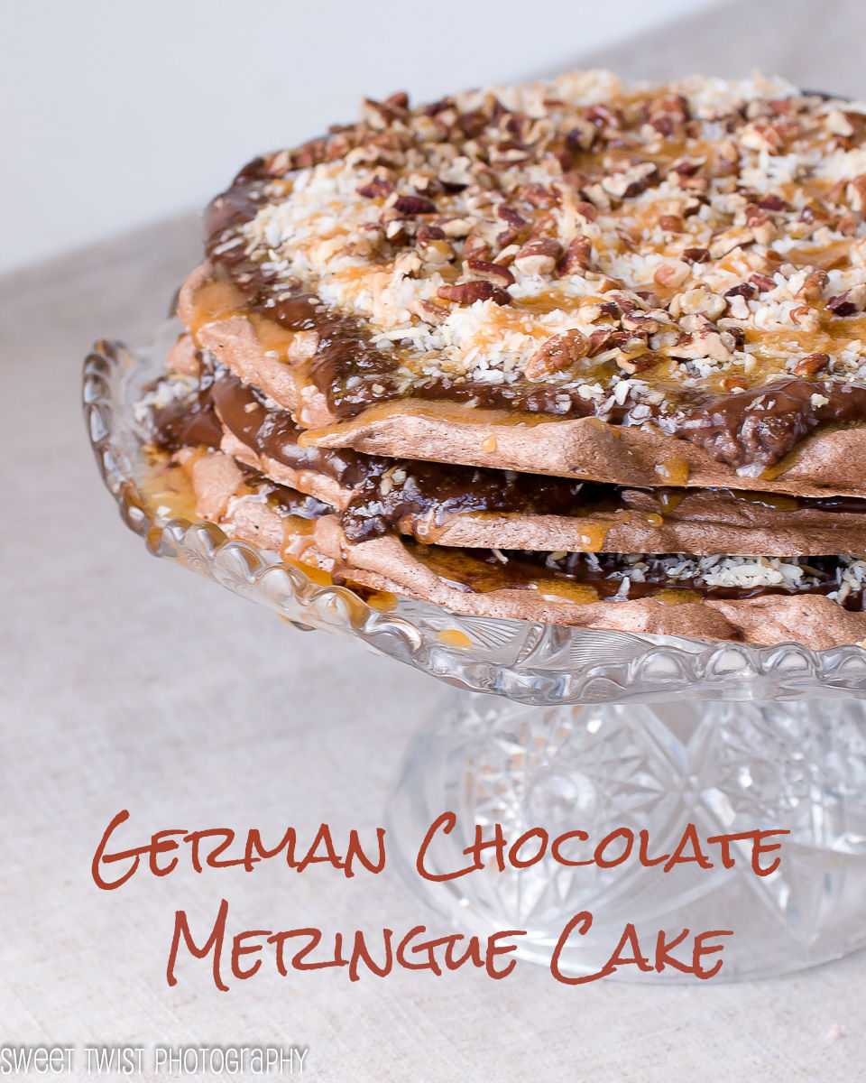 Sweet Twist of Blogging: German Chocolate Meringue Cake