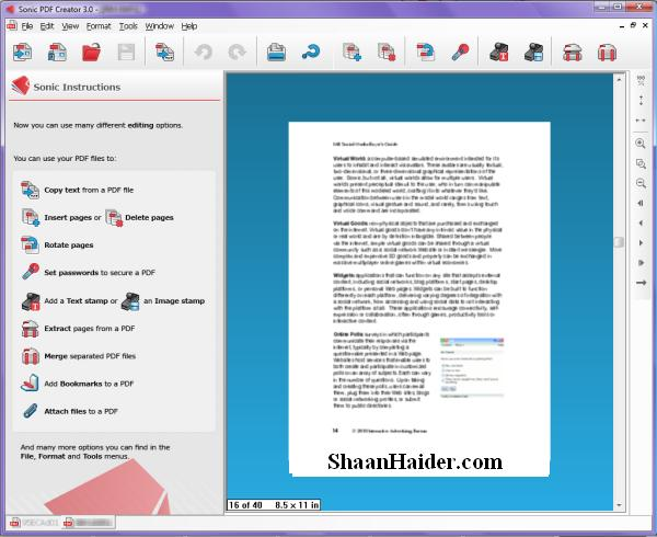 Sonic PDF Creator : A Software for All Your PDF Needs