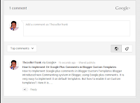 How to Implement Google plus comments in Blogger Custom Templates