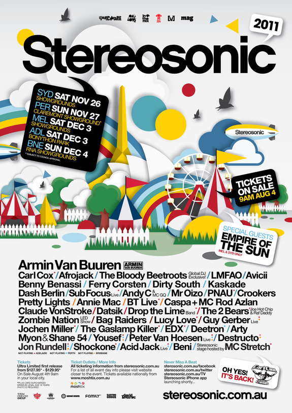 Stereosonic line up leaked celebrity