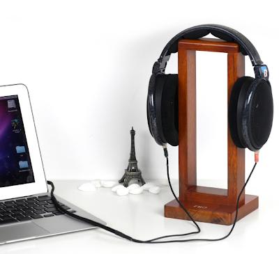 wood headphone stand