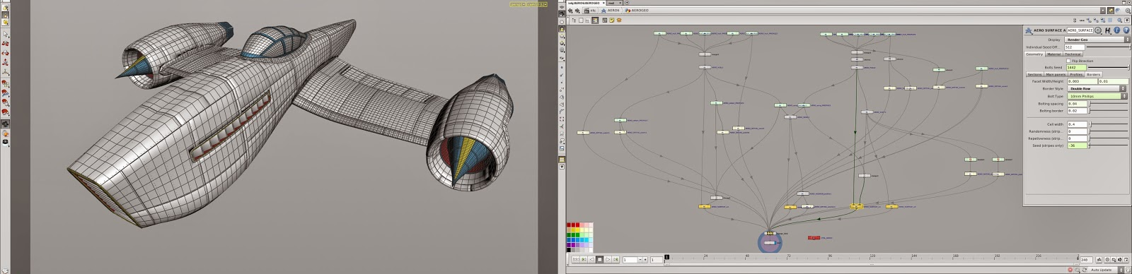 Project Aero: Procedural Aircraft Design Toolkit for SideFX Houdini