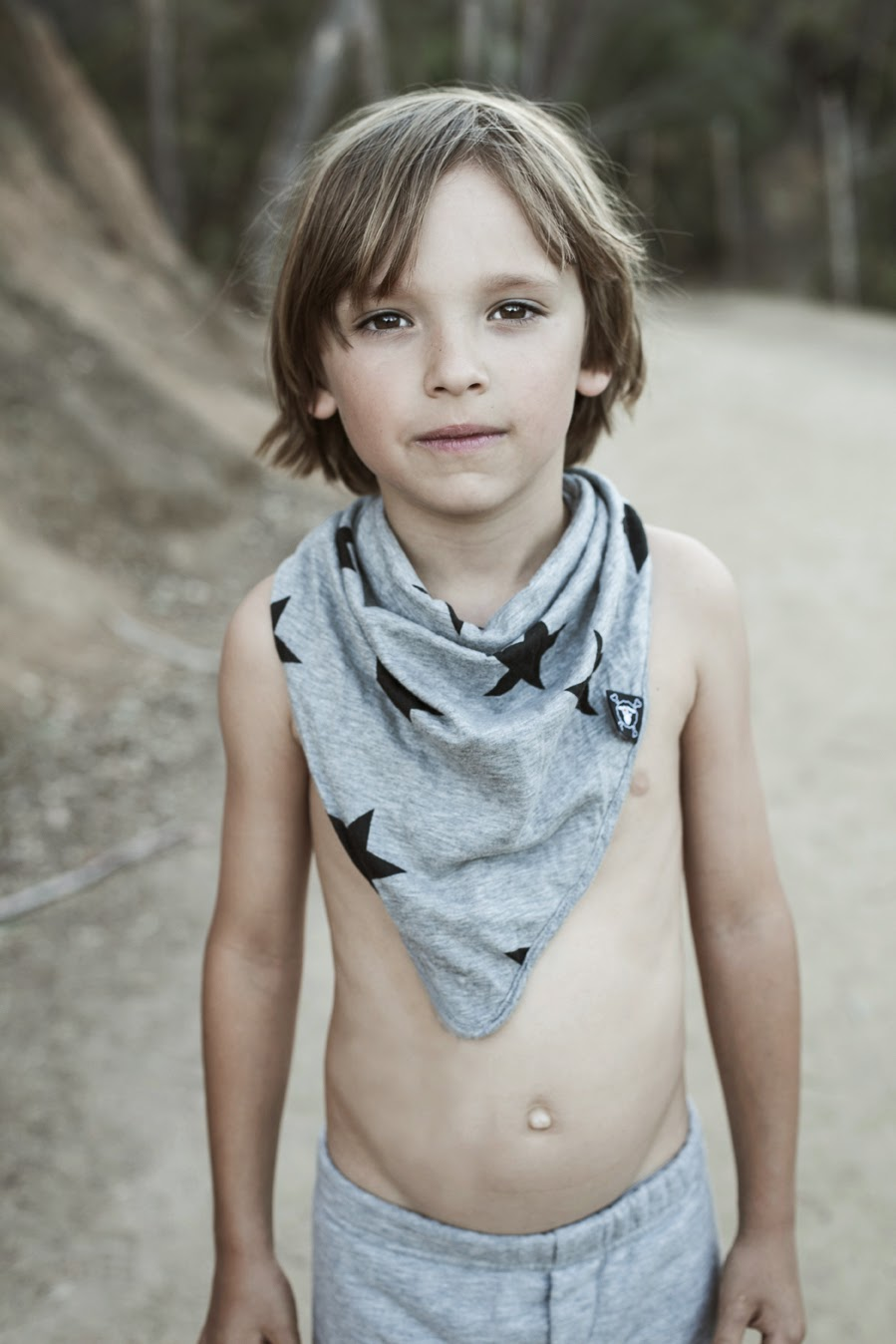 Kids star scarf - Nununu AW14 editorial by Alexandra Cooper Photography