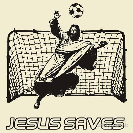 Jesus is an amazing football player? Certainly he would be a great coach too.