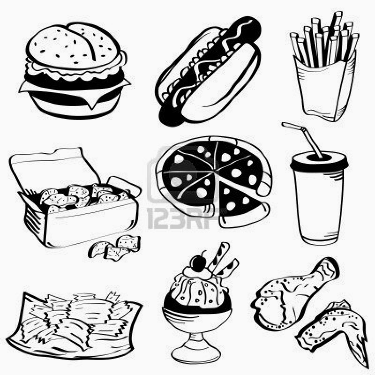 coloring pages of food corpedo com