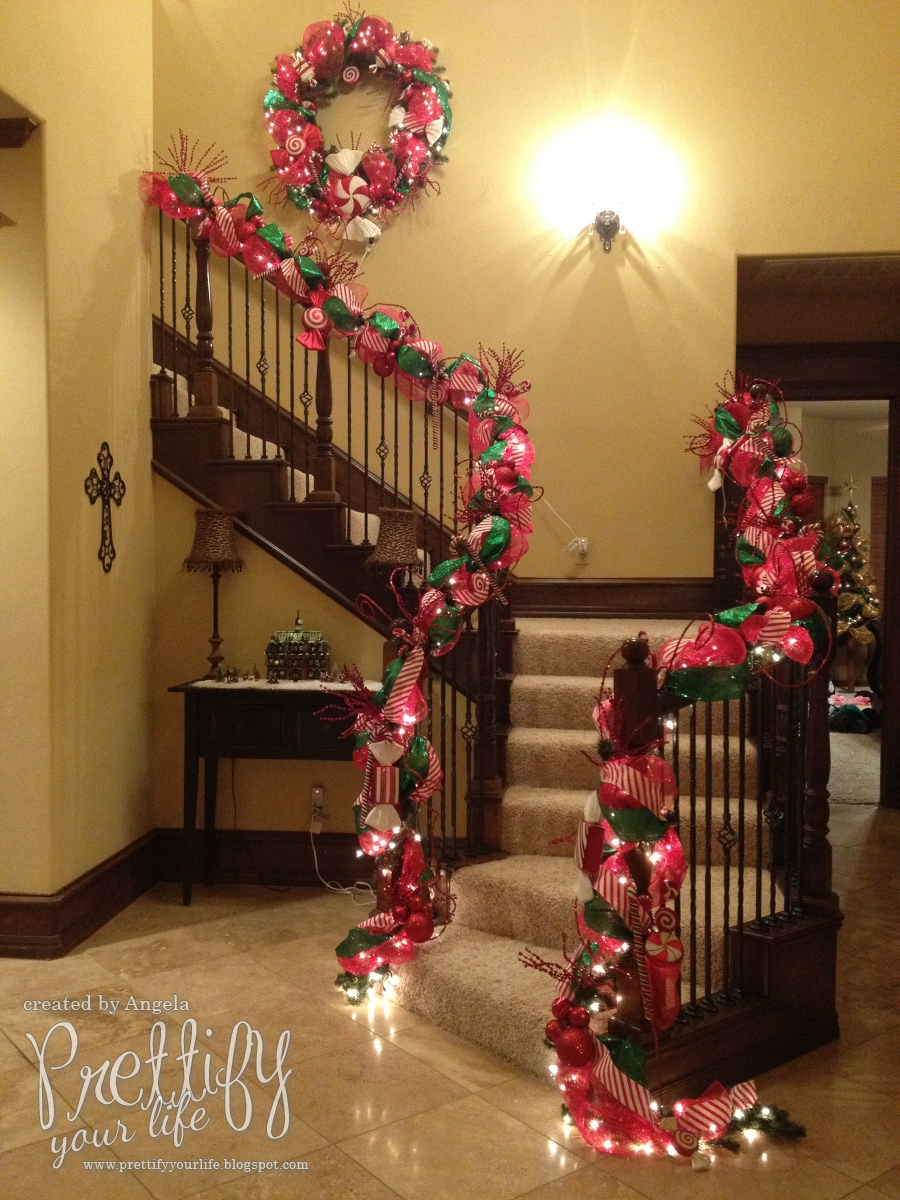 Prettify your life episode 67 my christmas staircase for How to decorate your stairs for christmas
