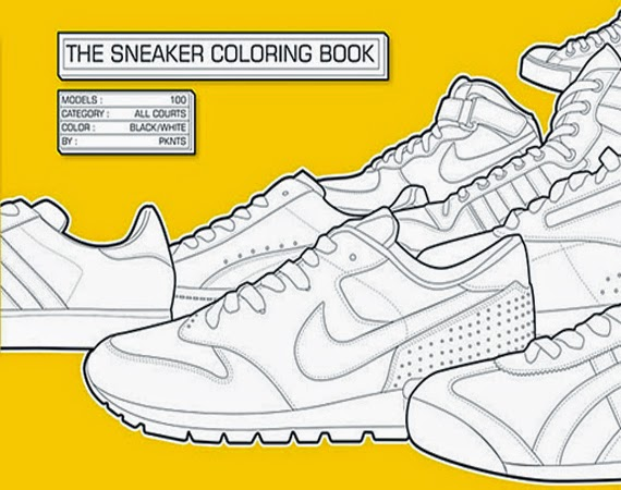 The Sneaker Coloring Book Download Nike Shoes Page Kids Fashion S