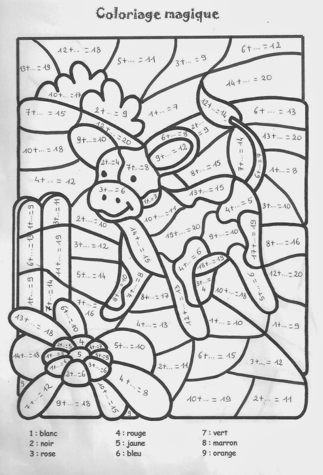 Coloriage magique table de multiplication 2 3 4 5 - Coloriage magique tables ...