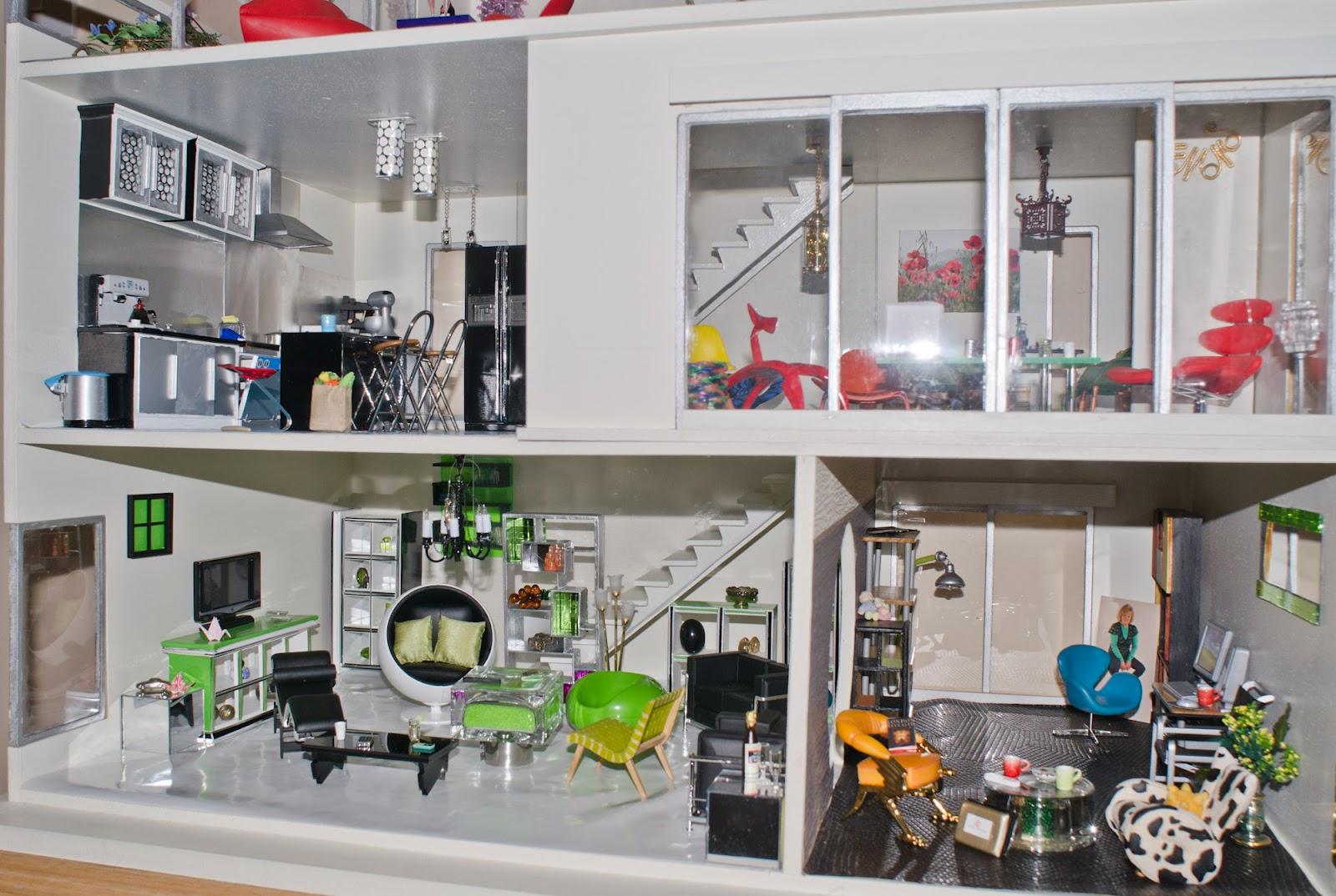 Barbie House On Pinterest Modern Dollhouse Dollhouses