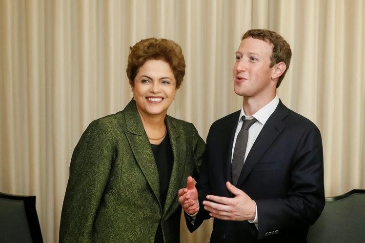 Dilma e Mark Zuckerberg se encontram na VII Cúpula das Américas e assinam acordo