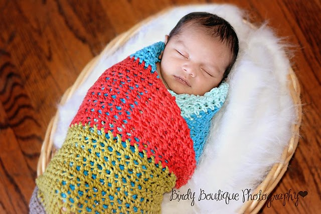 Crochet Pattern For Swaddle Blanket : tangled happy