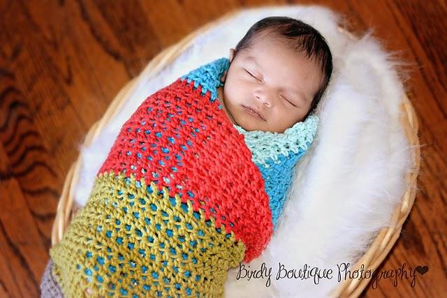Free Crochet Pattern Baby Swaddling Blanket : tangled happy