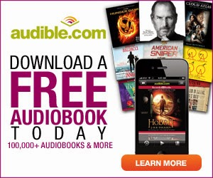 Get a free audiobook from audible