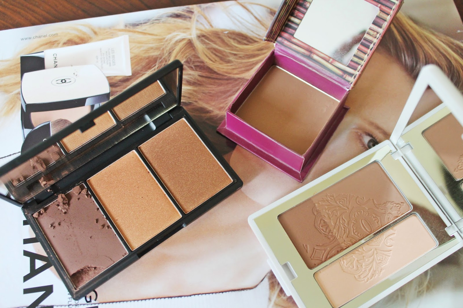 Contour Palettes: Benefit Hoola Bronzer, Kiko Golden Game Sculpting Bronzer, Sleek MakeUp Face Form - Aspiring Londoner