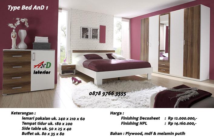 And Interi0r Bedroom Set Kamar Modern Minimalis