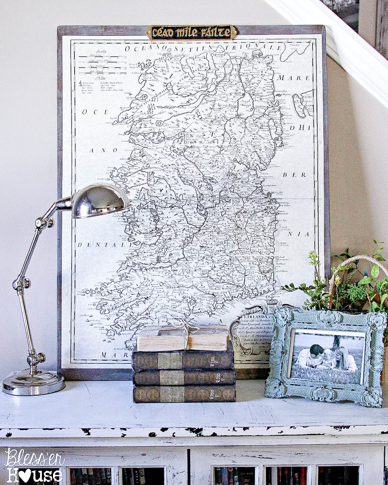 Bless'er House-vigentte with map-How I Found My Style Sundays- From My Front Porch To Yours