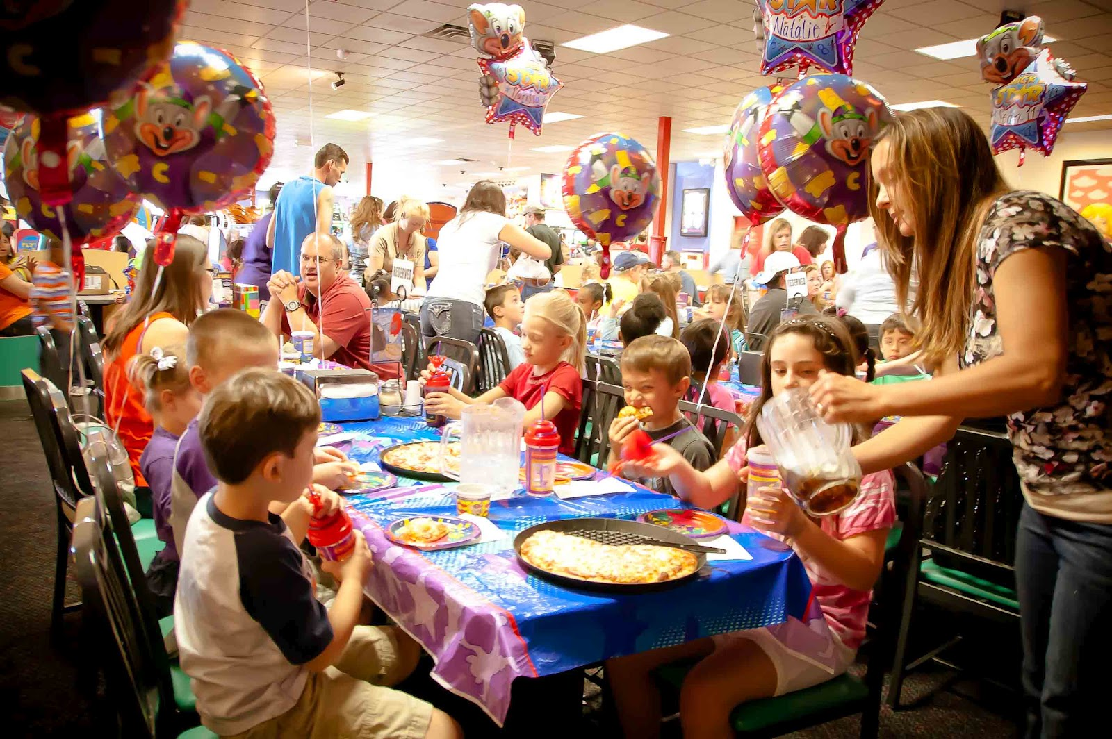 Cooper S Corner 5th Birthday Party At Chuck E Cheese