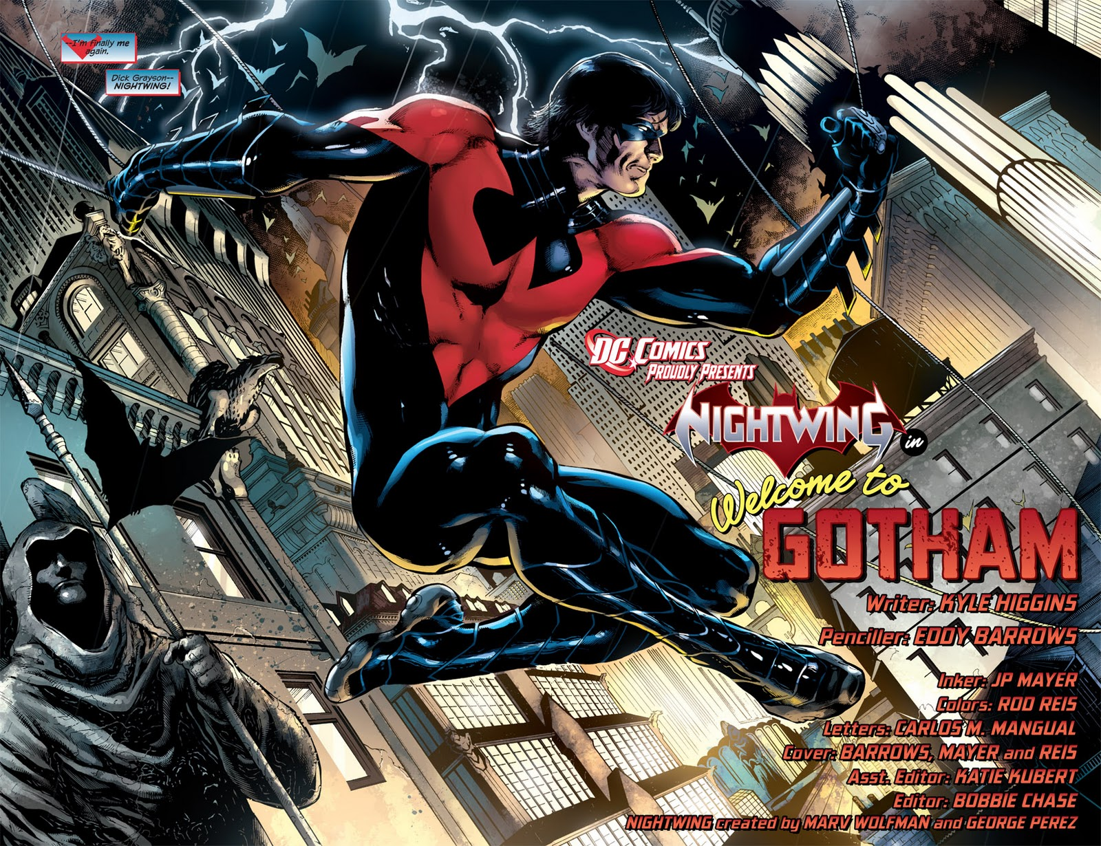 Batman family the new 52 nightwing costume in the new 52 dick has returned to the nightwing identity after briefly serving as batman he becomes the new head of halys circus after the former owner buycottarizona Choice Image