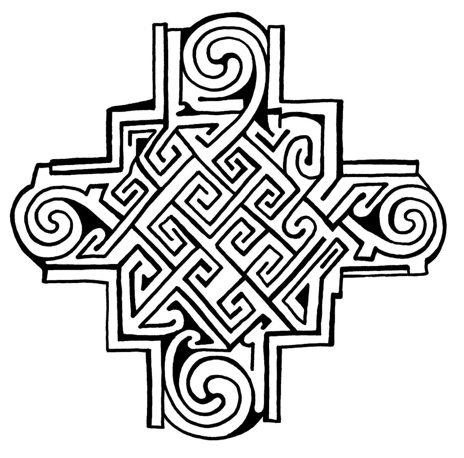 Mandalas Para Pintar: Cruz Celta I