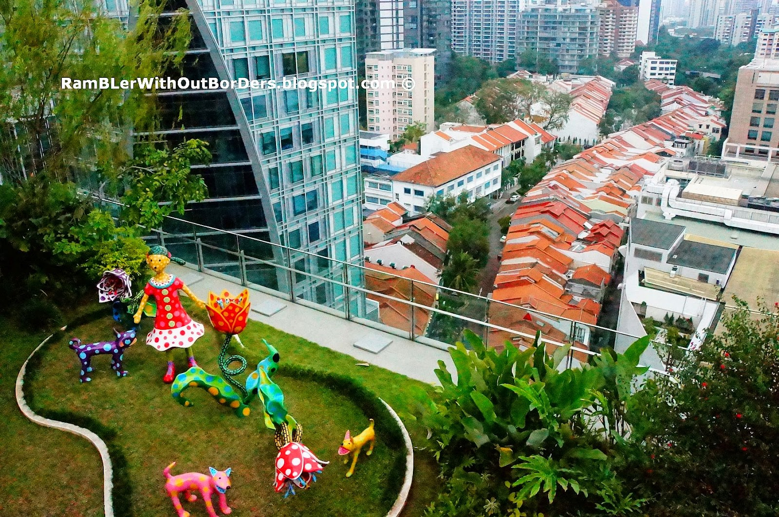 """""""Let's Go to a Paradise of Tulips"""" (2009), Orchard Central, Singapore"""