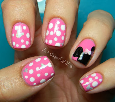 nail art minnie mouse fashionate