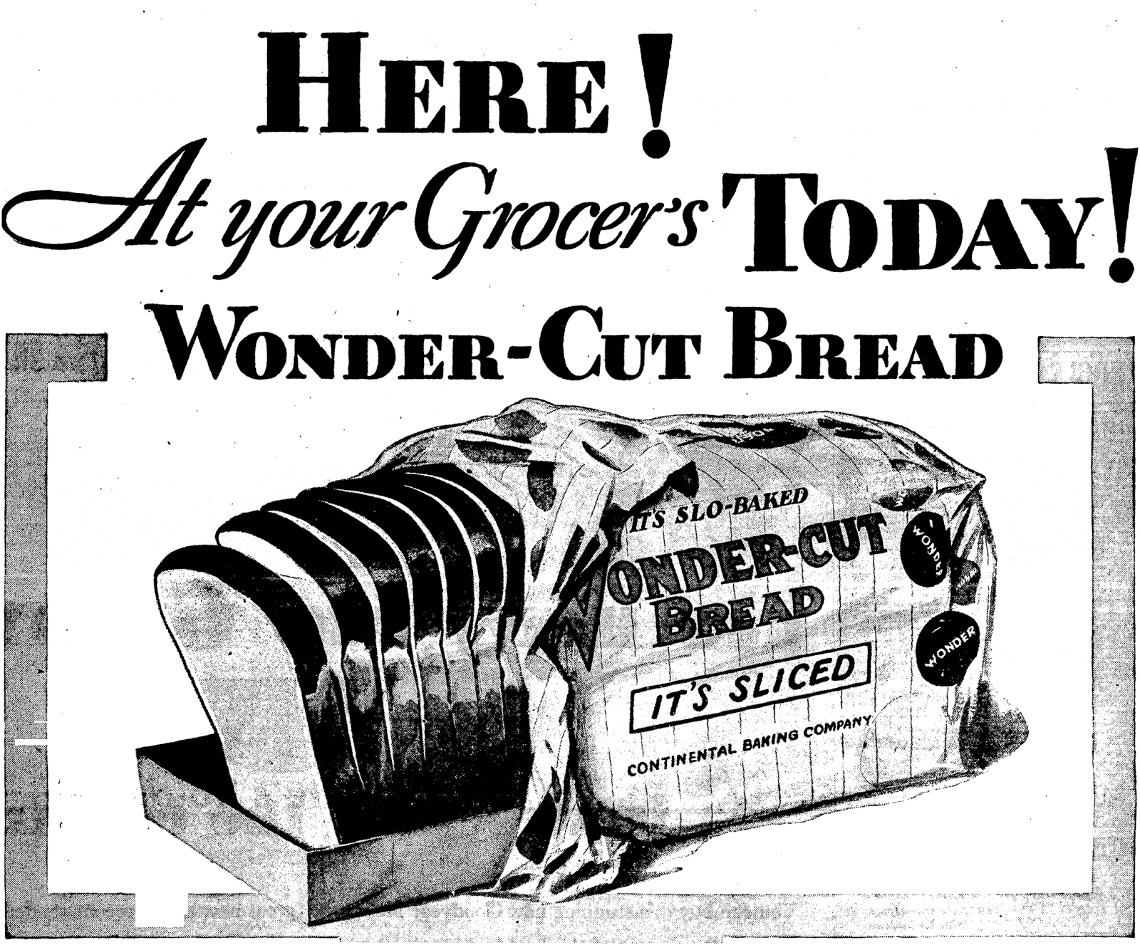 Ephemeral city  Wonder Bread wrapperWonder Bread 1920