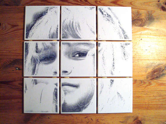 Love The One You Are With Print On Tile Portrait Amaze